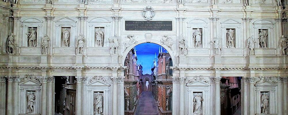 Olympic Theatre - detail, Palladio, Vicenza. Visit with Chauffeur service and local guide