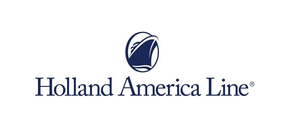 Logo Holland America Line, compagnia di crociera anglo-americana con sede a Seattle.