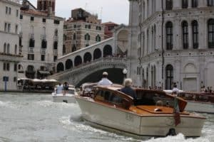 Venice Grand Canal watertaxi ride. Private transfer, chauffeur service, from Marco Polo and Treviso airports to Venice center